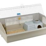 Din kanin skal kunne leve godt i sit bur (foto lavprisdyrehandel.dk)